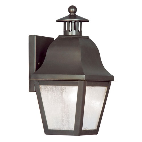 Livex Lighting Seeded Glass Outdoor Wall Light Bronze Livex Lighting 2550-07