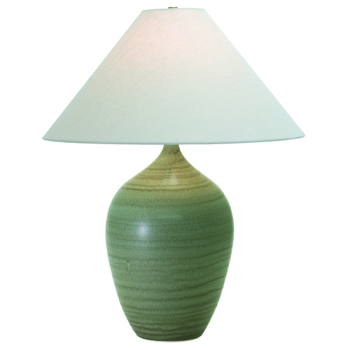 House of Troy Lighting House of Troy Scatchard Green Matte Table Lamp with Conical Shade GS190-GM