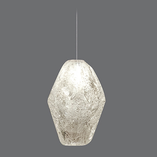 Fine Art Lamps Fine Art Lamps Natural Inspirations Gold-Toned Silver Leaf Mini-Pendant Light 851840-14ST