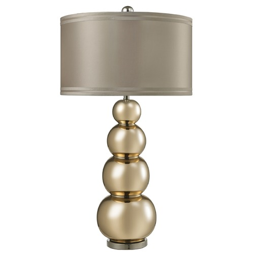 Dimond Lighting Dimond Lighting Gold Mercury, Polished Chrome Table Lamp with Drum Shade D2569