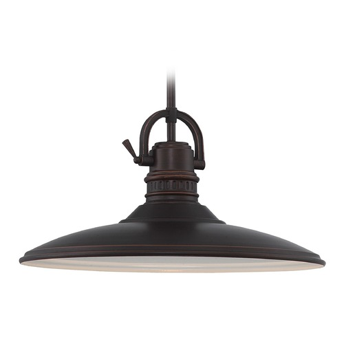 Lite Source Lighting Lite Source Aged Copper Pendant Light with Coolie Shade LS-19927