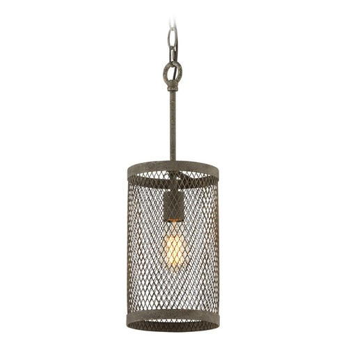 Troy Lighting Troy Lighting Village Tavern Old Tavern Iron Mini-Pendant Light with Cylindrical Shade F4844