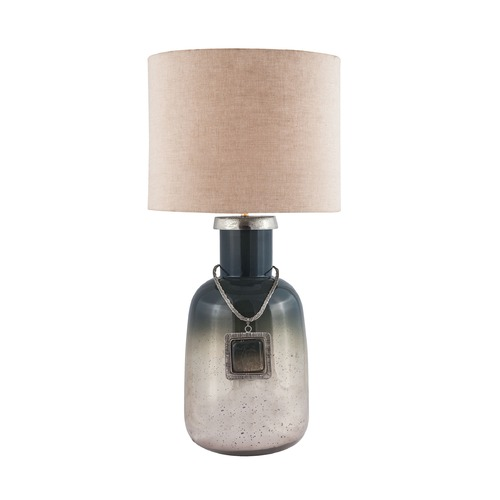 Dimond Lighting Dimond Iceland Metallic Slate Mercury Table Lamp with Drum Shade 8468-089
