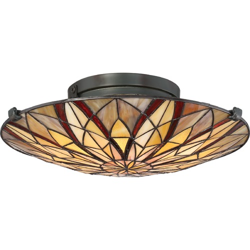 Quoizel Lighting Quoizel Lighting Victory Valiant Bronze Semi-Flushmount Light TFVY1400VA
