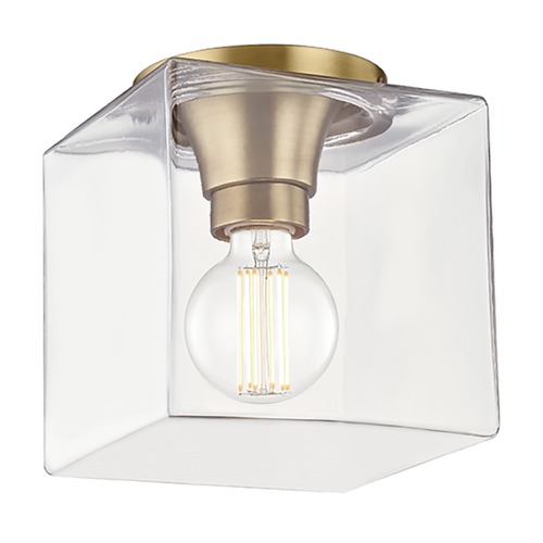 Mitzi by Hudson Valley Mitzi By Hudson Valley Mitzi Grace Aged Brass LED Flushmount Light H284501SQS-AGB