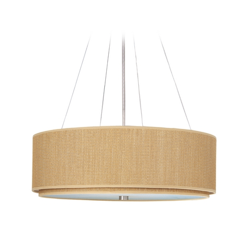 ET2 Lighting Modern Pendant Light with Brown Shades in Satin Nickel Finish E95065-101SN