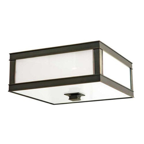 Hudson Valley Lighting Flushmount Light with White Glass in Old Bronze Finish 4213-OB