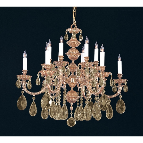 Crystorama Lighting Crystal Chandelier in Olde Brass Finish 2512-OB-GTS