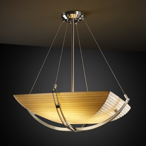 Justice Design Group Justice Design Group Porcelina Collection Pendant Light PNA-9721-25-SAWT-NCKL