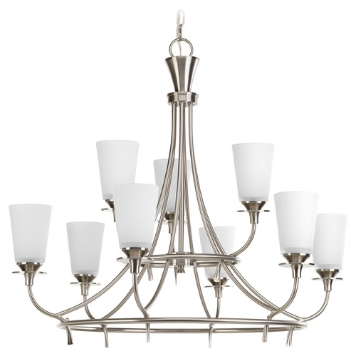 Progress Lighting Progress Lighting Cantata Brushed Nickel Chandelier P4039-09
