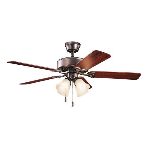 Kichler Lighting Kichler Lighting Renew Premier Oil Brushed Bronze Ceiling Fan with Light 339240OBBU