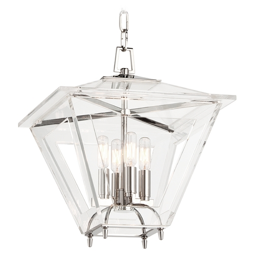 Hudson Valley Lighting Hudson Valley Lighting Andover Polished Nickel Pendant Light with Square Shade 7419-PN
