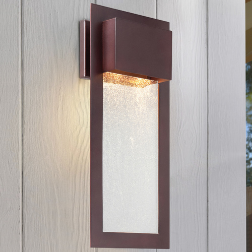Minka Lavery Seeded Glass Outdoor Wall Light Bronze Minka Lavery 72383-246