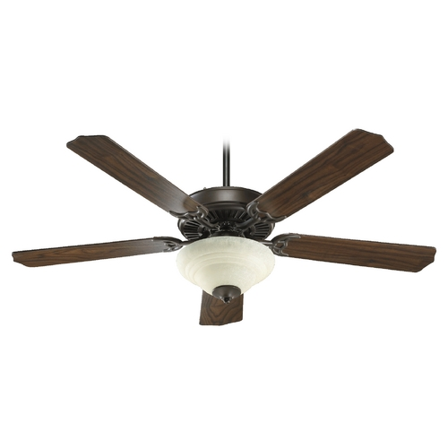 Quorum Lighting Quorum Lighting Capri Iv Oiled Bronze Ceiling Fan with Light 77525-2686