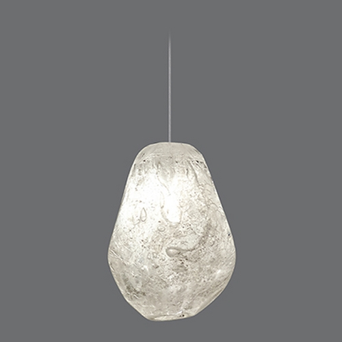 Fine Art Lamps Fine Art Lamps Natural Inspirations Gold-Toned Silver Leaf Mini-Pendant Light 851840-15ST