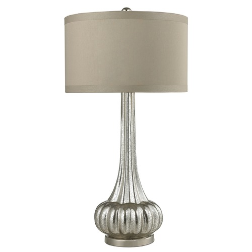 Dimond Lighting Dimond Lighting Antique Mercury, Polished Chrome Table Lamp with Drum Shade D2572