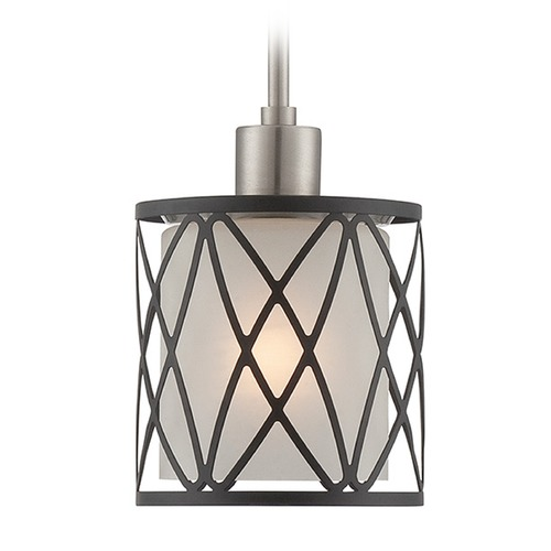 Lite Source Lighting Lite Source Black Mini-Pendant Light with Cylindrical Shade LS-19808