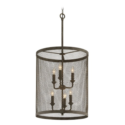 Troy Lighting Troy Lighting Village Tavern Old Tavern Iron Pendant Light with Cylindrical Shade F4846