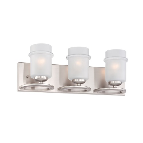 Designers Fountain Lighting Designers Fountain Omega Satin Platinum Bathroom Light 86603-SP