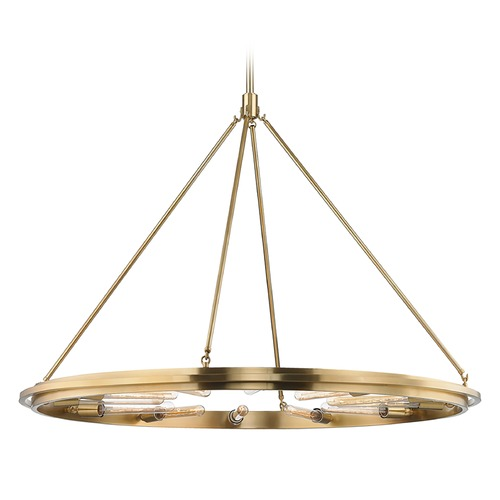 Hudson Valley Lighting Hudson Valley Lighting Chambers Aged Brass Pendant Light 2745-AGB