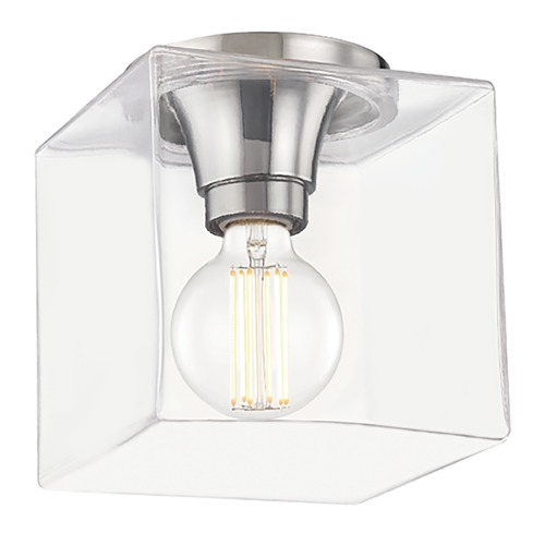 Mitzi by Hudson Valley Mitzi By Hudson Valley Mitzi Grace Polished Nickel LED Flushmount Light H284501SQS-PN