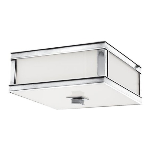 Hudson Valley Lighting Flushmount Light with White Glass in Polished Nickel Finish 4213-PN
