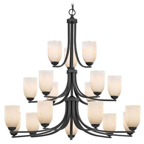 Design Classics Lighting Design Classics Dalton Fuse Neuvelle Bronze Chandelier 5863-220 GL1020D
