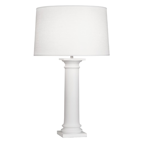 Robert Abbey Lighting Robert Abbey Phoebe Matte White Table Lamp with Empire Shade 870