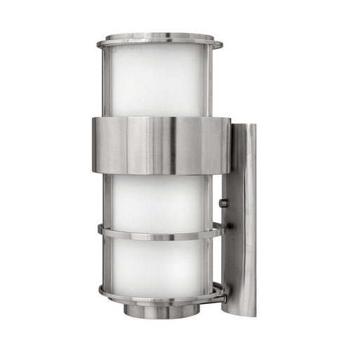 Hinkley Modern Outdoor Wall Light with Etched in Stainless Steel Finish 1905SS
