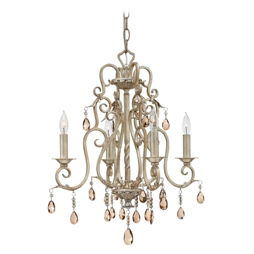 Hinkley Lighting Crystal Mini-Chandeliers in Silver Leaf Finish 4774SL