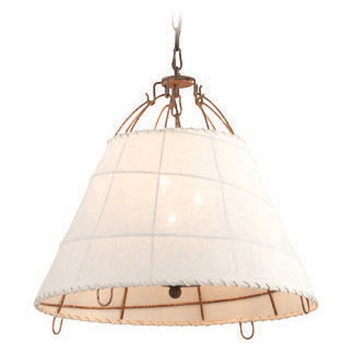 Troy Lighting Troy Lighting Gulf Stream Everglades Rust Pendant Light with Drum Shade F4073