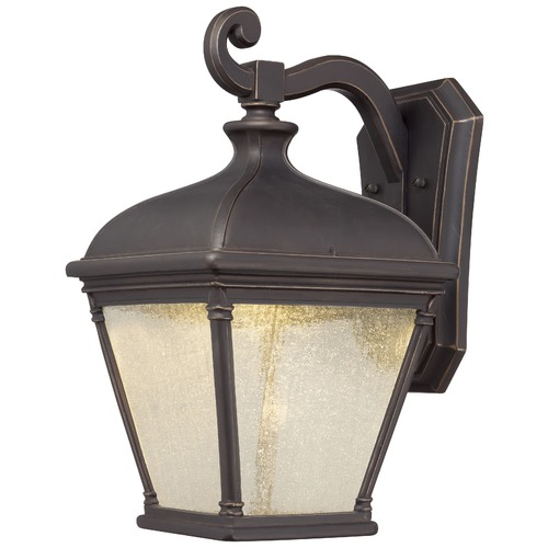 Minka Lighting Minka Lighting Lauriston Manor Oil Rubbed Bronze with Gold LED Outdoor Wall Light 72397-143C