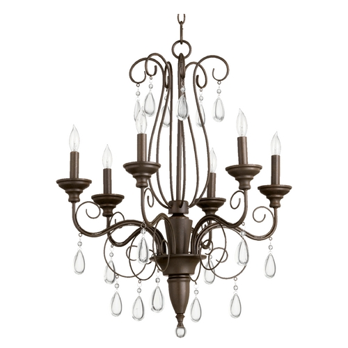 Quorum Lighting Quorum Lighting Vesta Oiled Bronze Chandelier 6001-6-86