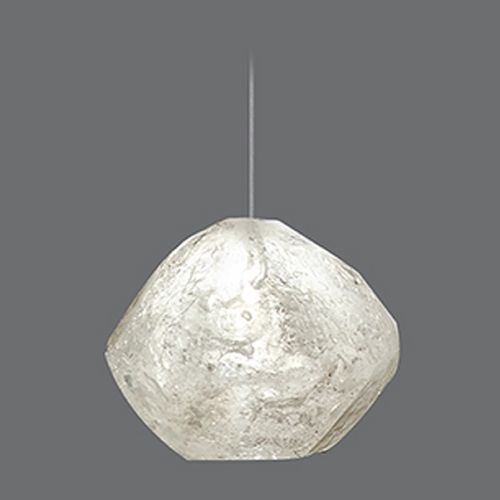 Fine Art Lamps Fine Art Lamps Natural Inspirations Gold-Toned Silver Leaf Mini-Pendant Light 851840-16ST