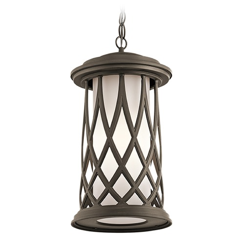 Kichler Lighting Kichler Lighting Pebble Lane Outdoor Hanging Light 49685OZ