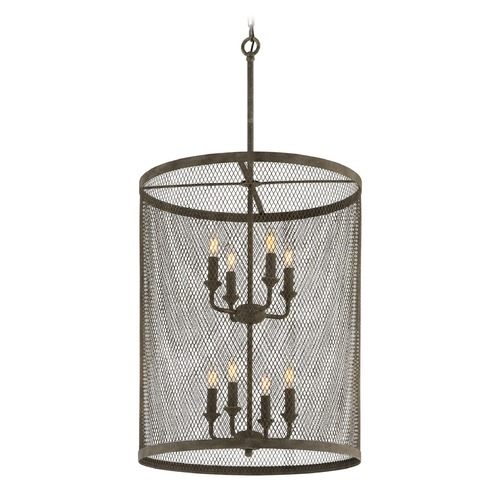 Troy Lighting Troy Lighting Village Tavern Old Tavern Iron Pendant Light with Cylindrical Shade F4847
