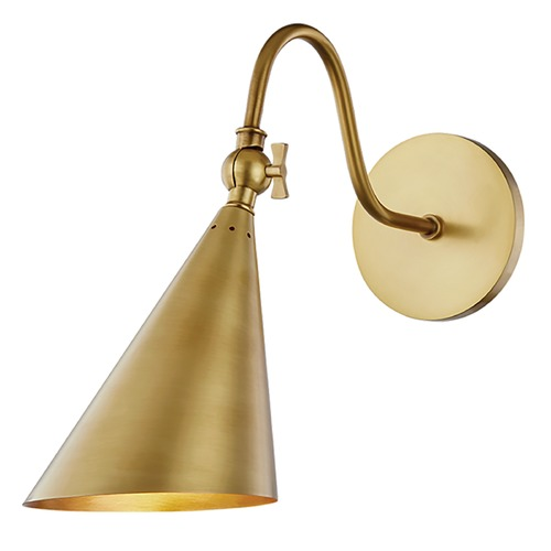 Mitzi by Hudson Valley Mitzi By Hudson Valley Mitzi Lupe Aged Brass Sconce H285101-AGB