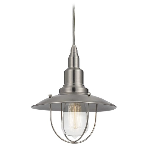 Matteo Lighting Matteo Lighting Clarkson Series Brushed Nickel Mini-Pendant Light with Coolie Shade C54113BN