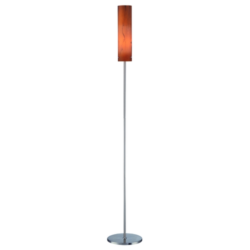 Lite Source Lighting Floor Lamp with White Shade in Polished Steel Finish LS-80450