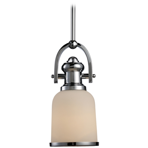 Elk Lighting Mini-Pendant Light with White Shade 66151-1