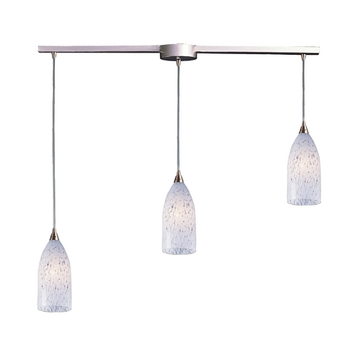 Elk Lighting Modern Multi-Light Pendant Light with Art Glass and 3-Lights 502-3L-SW