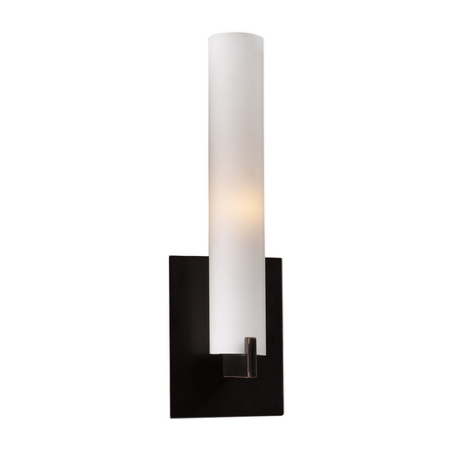 PLC Lighting Modern Sconce Wall Light with White Glass in Oil Rubbed Bronze Finish 932/CFL ORB