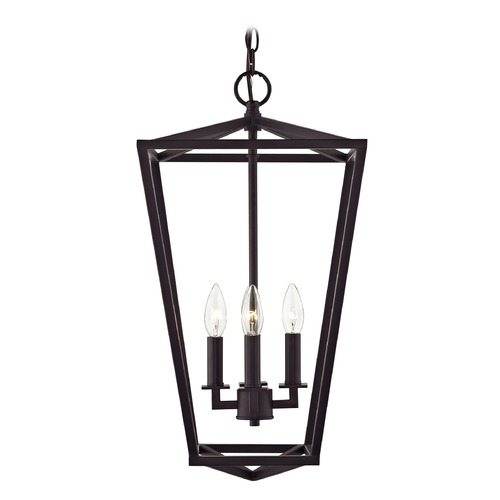 Design Classics Lighting Lantern Pendant Light 4-Lt 23-Inch Tall Bronze 1798-30/30