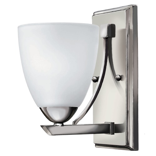 Hinkley Lighting Sconce with White Glass in Chrome Finish 5250CM