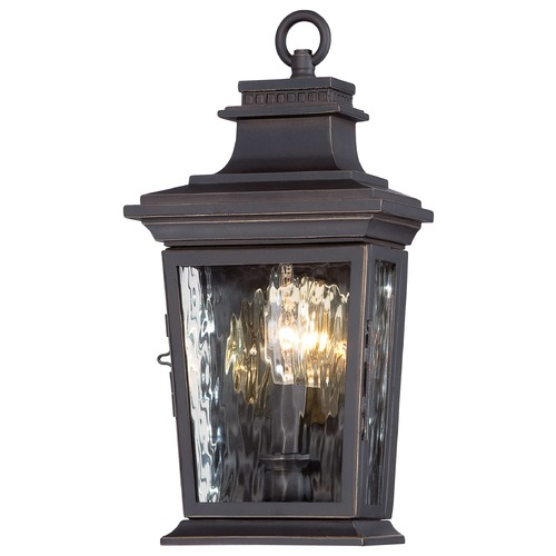 Minka Lavery Minka Lighting Vista Montaire Oil Rubbed Bronze with Gold Outdoor Wall Light 73001-143C