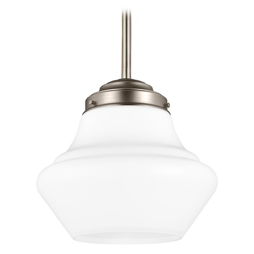Feiss Lighting Feiss Lighting Alcott Satin Nickel LED Pendant Light P1406SN-LED