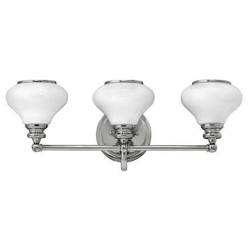 Hinkley Lighting Hinkley Lighting Ainsley Polished Nickel Bathroom Light 56553PN