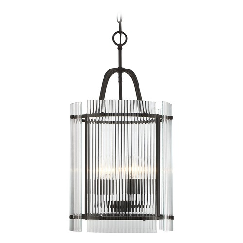 Savoy House Savoy House Lighting Afton English Bronze Pendant Light with Cylindrical Shade 3-3086-5-13
