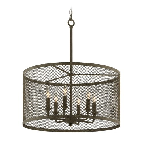 Troy Lighting Troy Lighting Village Tavern Old Tavern Iron Pendant Light with Drum Shade F4848