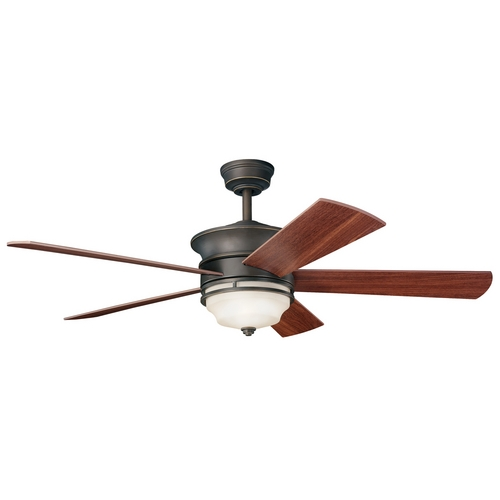 Kichler Lighting Kichler Ceiling Fan with Light Kit in Bronze Finish 300114OZ